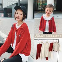 Чен Чен Ма Ин детское женщина детские Осень 2019 новая коллекция Семейный пакет Диснея кардиган куртка Ленивая мама