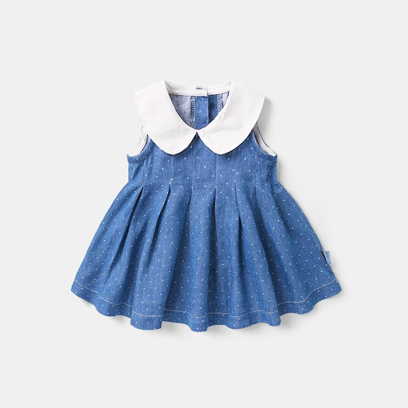 Váy xếp li cho bé gái mùa hè bé gái bé gái mùa hè kiểu váy công chúa kiểu dáng nước ngoài Y3089 - Váy