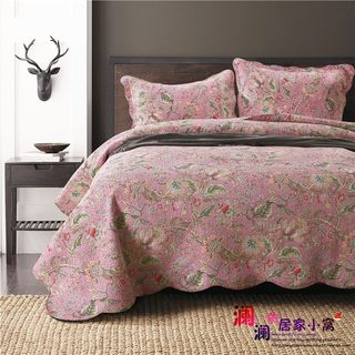 American foreign trade exports three-piece cotton bed cover South Korea washed quilted quilt European style quilted cotton bed linen