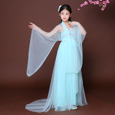 Chinese Folk Dance Dress Children's costume costumes Fairy costume Hanfu Girls Tang Dynasty dress Children's Chinese costumes