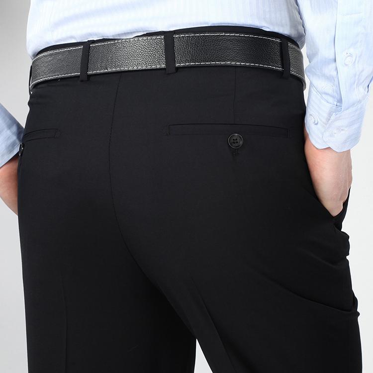 Người đàn ông trung niên của quần mùa hè phần mỏng lụa lỏng lụa không sắt duy nhất xếp li phù hợp với quần mùa hè nam quần quần