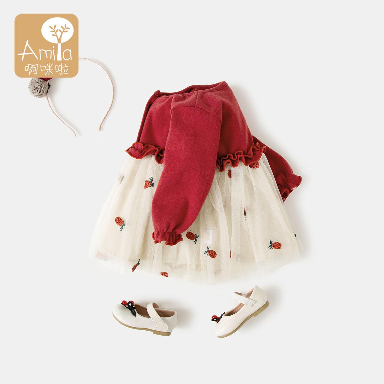 Детские Юбка осеннее платье женская 2018 новая коллекция 1-3-летний ребенок для маленькой принцессы Юбка юбка 2 на младенца осень длинный рукав платье