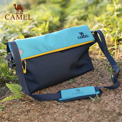 'Break code' camel men and women oblique shoulder bag 15L simple casual bag daily casual bag
