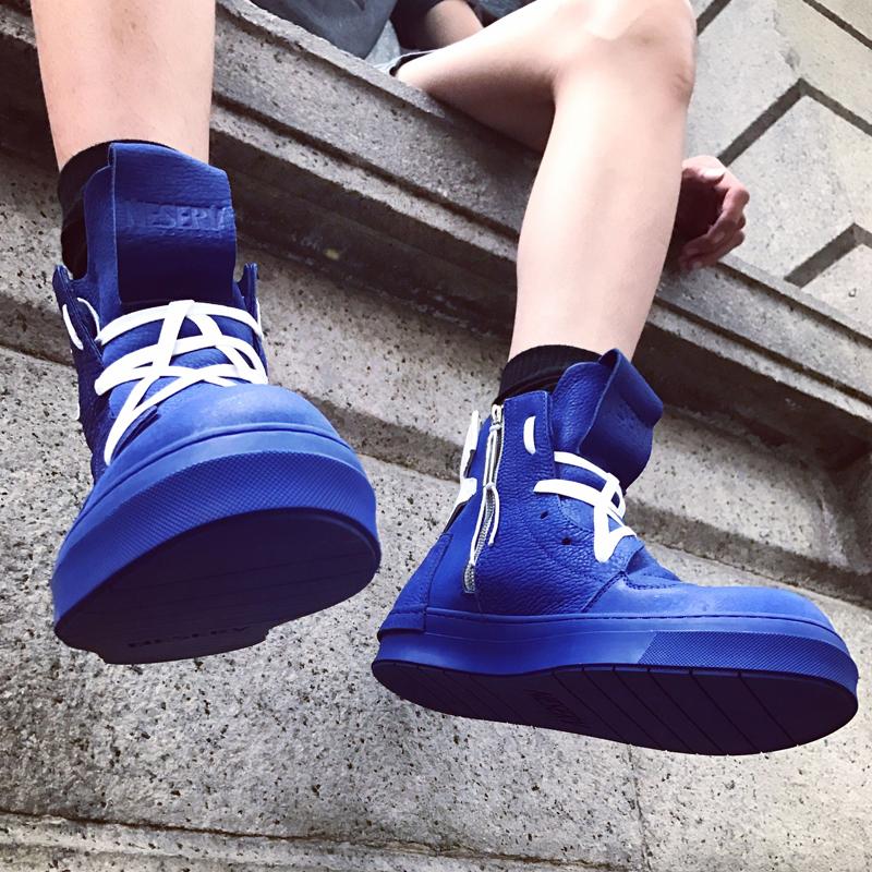 Naser quốc gia thủy triều cao giày người đàn ông mùa hè hip hop giày thủy triều cao nhà nước giày người đàn ông giày Hàn Quốc phiên bản của xu hướng của người đàn ông cao giày