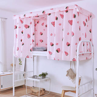 Semi-shade cloth curtains student dormitory bunk dormitory artifact ins girl heart princess bed mantle Nordic Wind