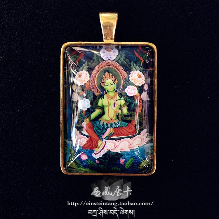 Usd 2671 green tara pendant tibetan thangka buddha hand pure green tara pendant tibetan thangka buddha hand pure copper buddha hand nepal ethnic necklace tibetan text play accessories pendant mozeypictures Gallery