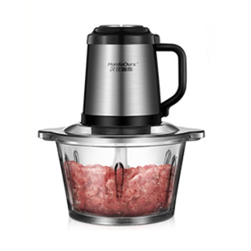 绞肉机家用电动不锈钢多功能搅拌料理机辣椒打馅碎菜搅蒜泥器小型