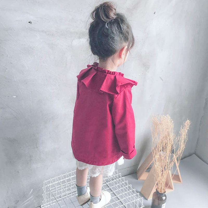 女童短款风衣春秋宝宝外套洋气1韩版2儿童时尚3-4岁2018秋装新款