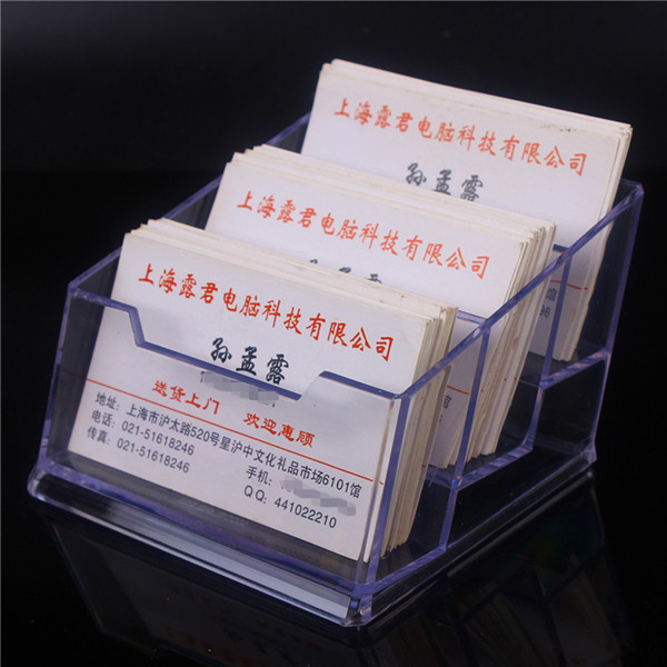 Business card box acrylic business card holder multi layer business business card box acrylic business card holder multi layer business card storage box 3 layers six colourmoves