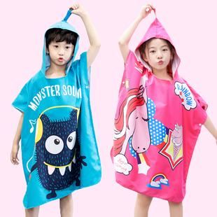 【羽克】儿童斗篷带帽速干毛巾浴袍