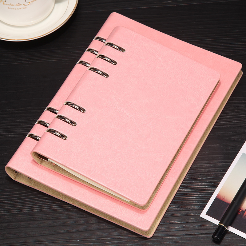 PU皮面活页可拆卸笔记本 记事本