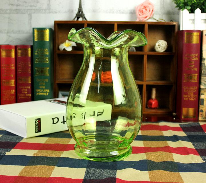 Цветочная ваза Поллок частных европейского стиля прозрачного стекла ваза Ваза цветов бамбука водяной лилии цветок