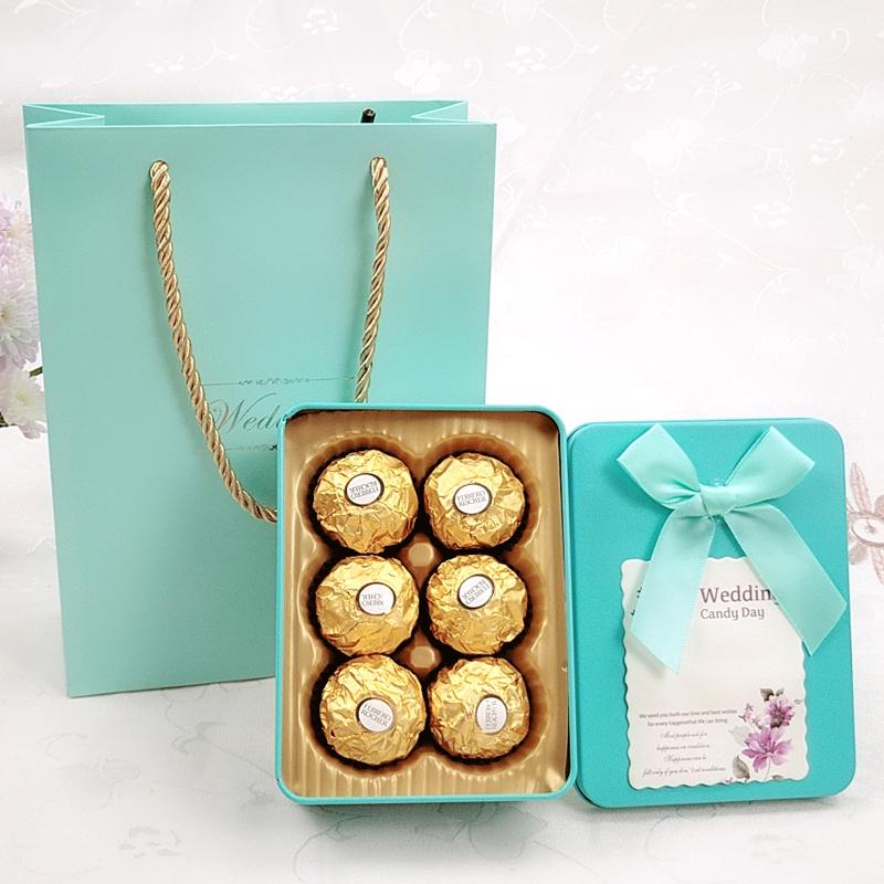马口铁创意婚礼伴手礼结婚回礼喜糖成品含糖巧克力帖礼盒满月