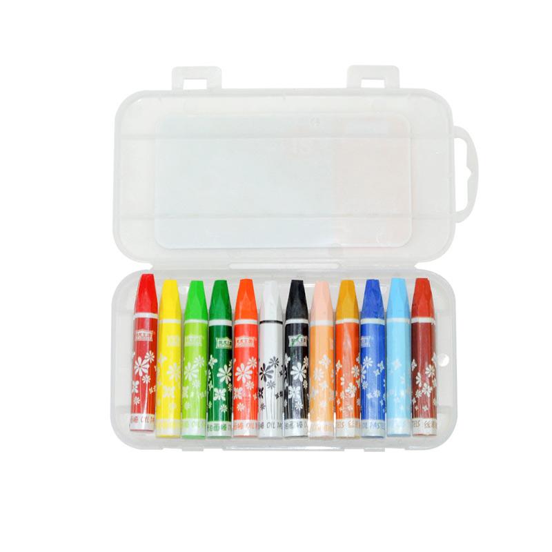美术王国儿童丝滑油画棒36色蜡笔幼儿园绘画画笔彩笔★套装 安全无毒可水洗小学生炫彩棒宝宝涂鸦填色旋转蜡笔