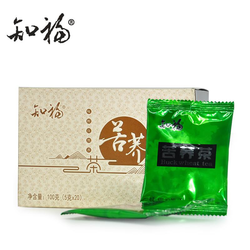 知福茶叶 四川凉山苦荞茶 全胚芽荞麦茶花草茶 100g