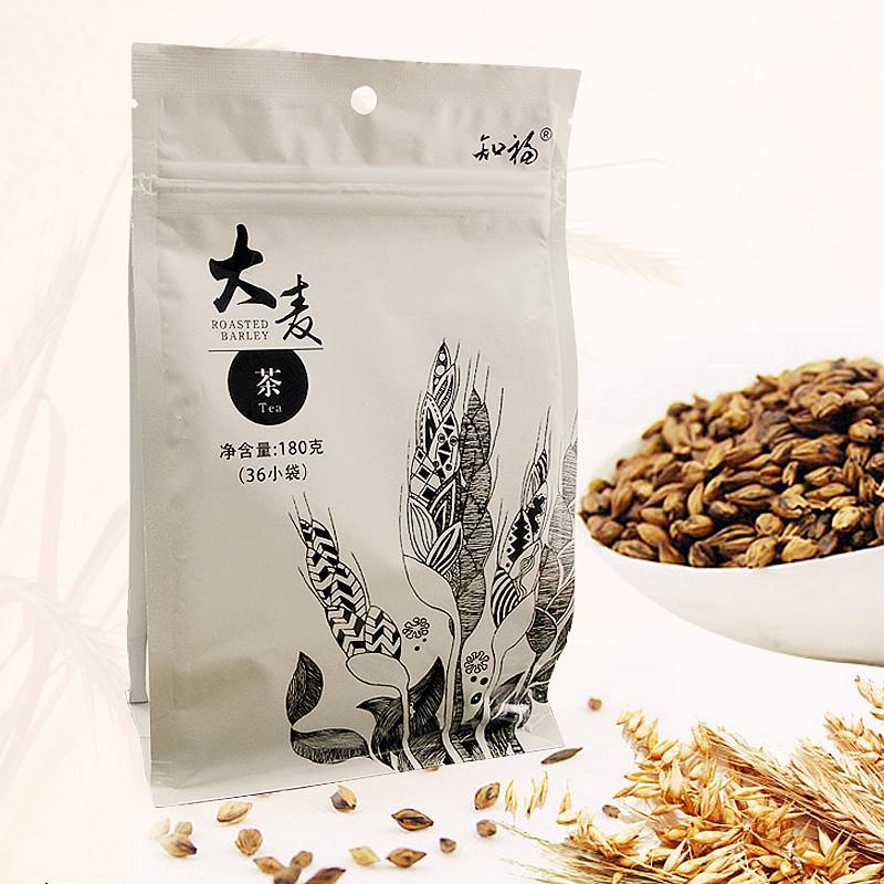 知福 大麦茶 手绘袋装烘焙型花草茶茶包180g
