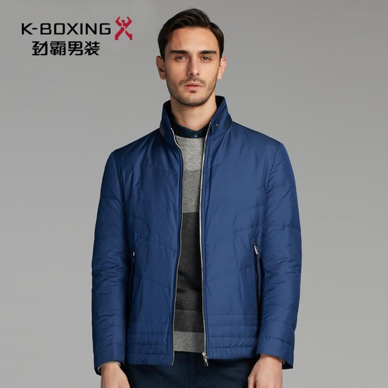 劲霸男装羽绒服 2018冬季新款立领纯色短款保暖青年夹克男士外套