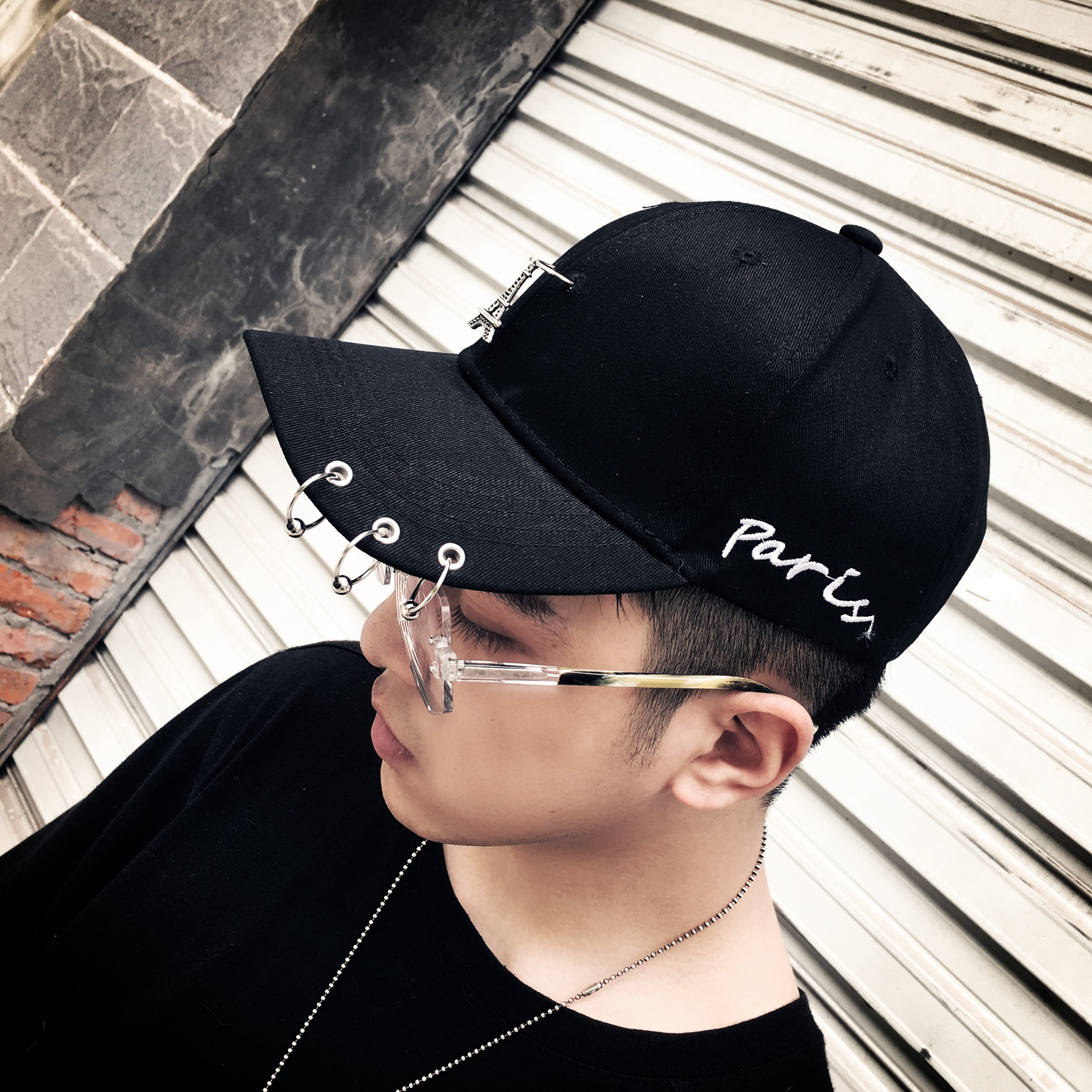 1e4b7f5aeaecf Hat male summer Korean version of the tide baseball cap cap with ring youth  leisure street