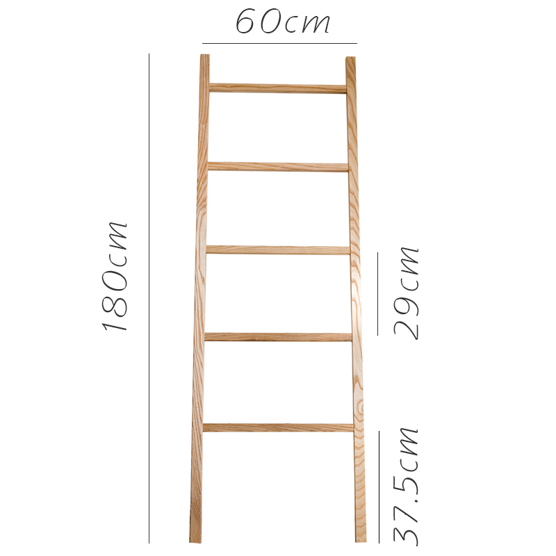 USD 61.93] (掬 Han) solid wood screen ladder frame white ash wood ...