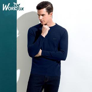 中年男纯色羊毛衫毛衣针织衫