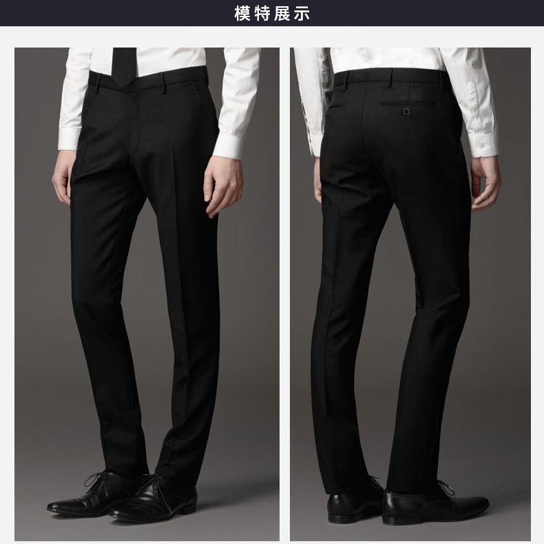 Quần nam mỏng mùa hè mỏng phần màu đen kinh doanh phù hợp với trang phục quần của nam giới thường phù hợp với quần thẳng nóng