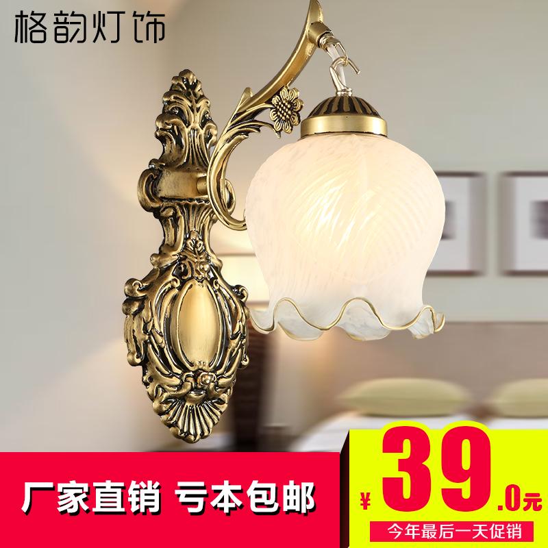 欧式田园蒂凡尼灯创意艺术灯具灯饰走廊过道饭餐厅玻璃LED小吊灯