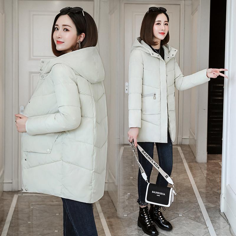 冬季棉服女冬中长款韩版宽松2019新款潮女士冬装棉衣加厚棉袄外套