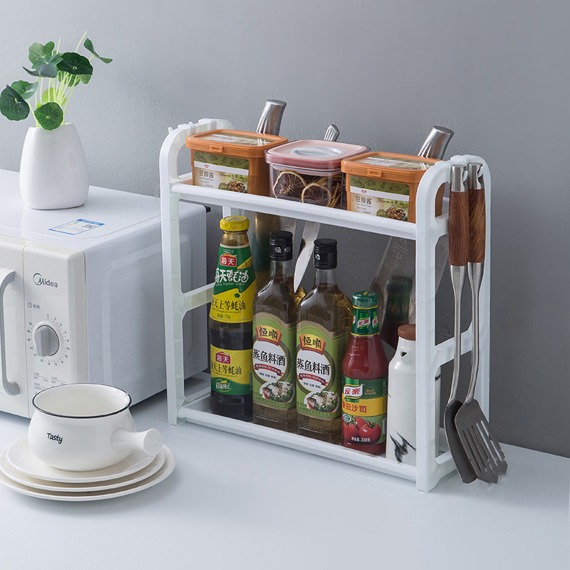 厨房置物架收纳调料架子刀架落地多层油盐酱醋调料味用品家用大全