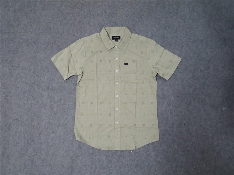 美式加州街头潮牌复古v咔叽夏季咔叽衬衫衬衣薄款男士滑板阿美短袖