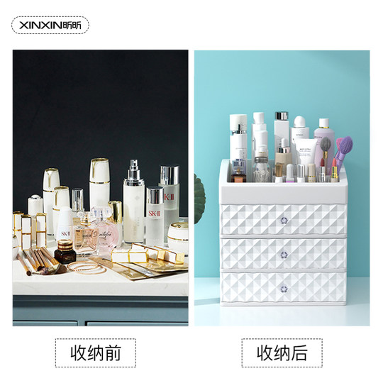 Desktop cosmetic storage box, jewelry finishing, student skin care products, dressing dormitory, finishing racks, household simplicity