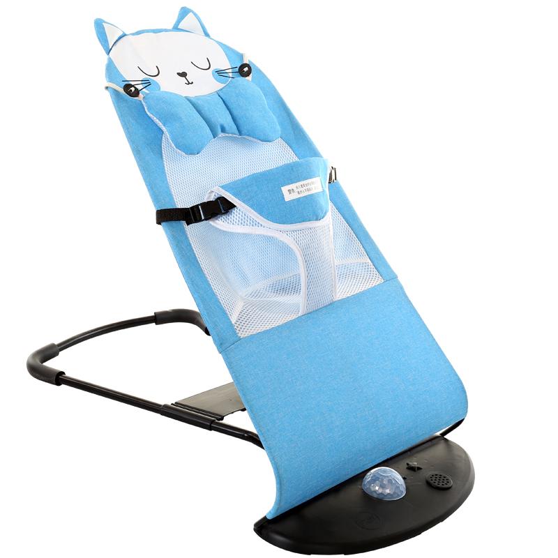 婴儿哄娃睡哄宝神器宝宝新生摇摇椅儿童安抚多功能躺椅岁详细照片