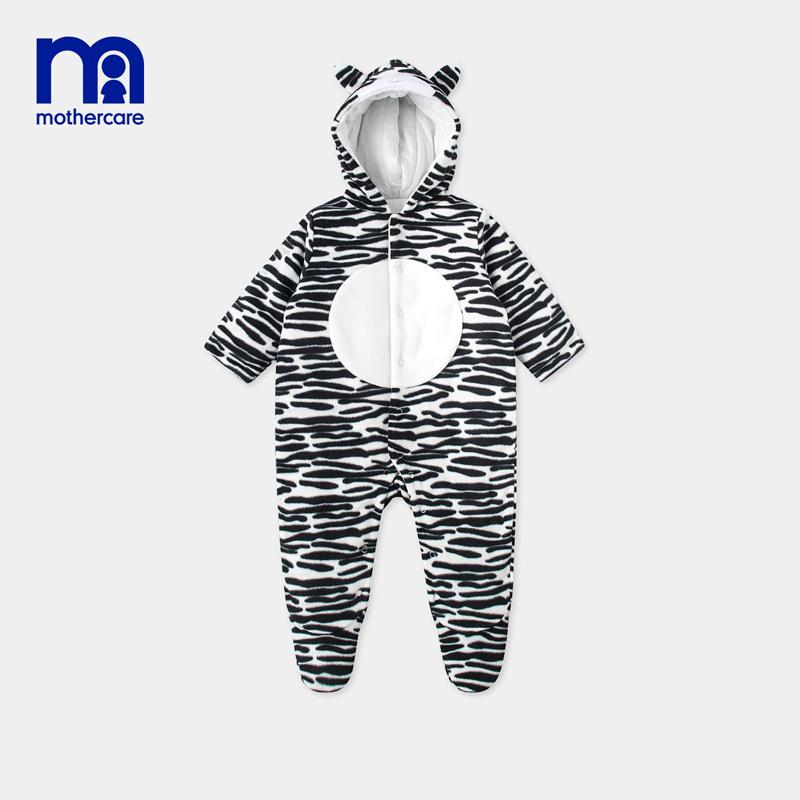 英国mothercare婴儿连体衣女宝宝衣服棉质恐龙连脚套女婴爬服
