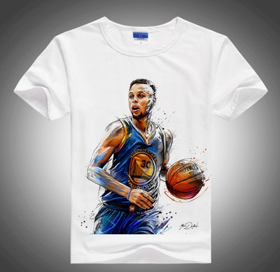 Basketball short-sleeved t-shirt men's large size round neck trapeze player Jordan Curry Coby Harden Durant James