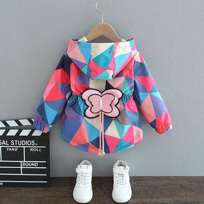 童装女童外套2021春装新款儿童风衣夹克中小童女孩春秋季洋气上衣