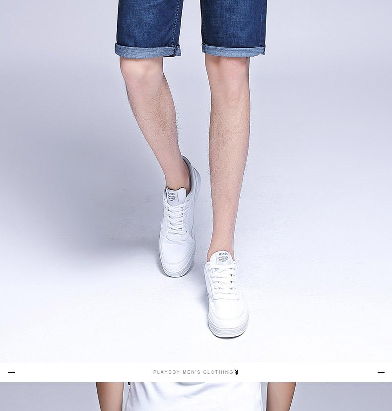 Playboy mùa hè phần mỏng quần short nam denim của nam giới thường jeans năm quần hot quần nam quần