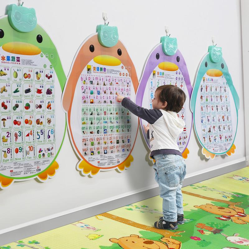 数字拼音发音有声挂图幼儿童早教声母韵母拼读训练字母表识字墙贴