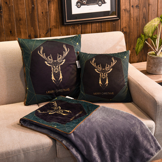 Autumn and winter flannel pillow by velvet blanket air conditioning lunch pillow is taken by cushion pillow by Nordic ministries