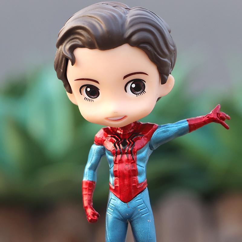 Phiên bản Q của Marvel Avengers 4 Spider-Man Peter Parker trang trí mô hình trang trí bánh - Capsule Đồ chơi / Búp bê / BJD / Đồ chơi binh sĩ