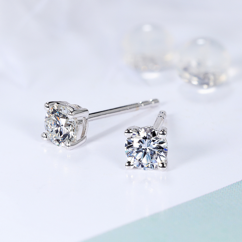 4457bbfd4 Gem Miner 18K Yellow Gold Diamond Stud Earrings Rose Gold Four ...