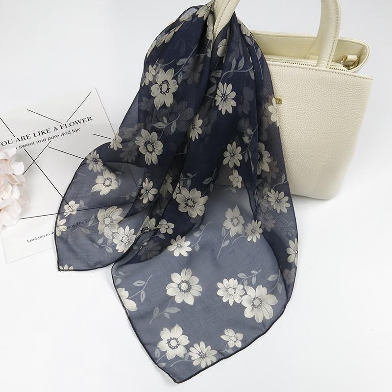 小丝巾小方巾女韩国复古纱巾桑蚕丝丝巾装饰百搭日系薄真丝小围巾
