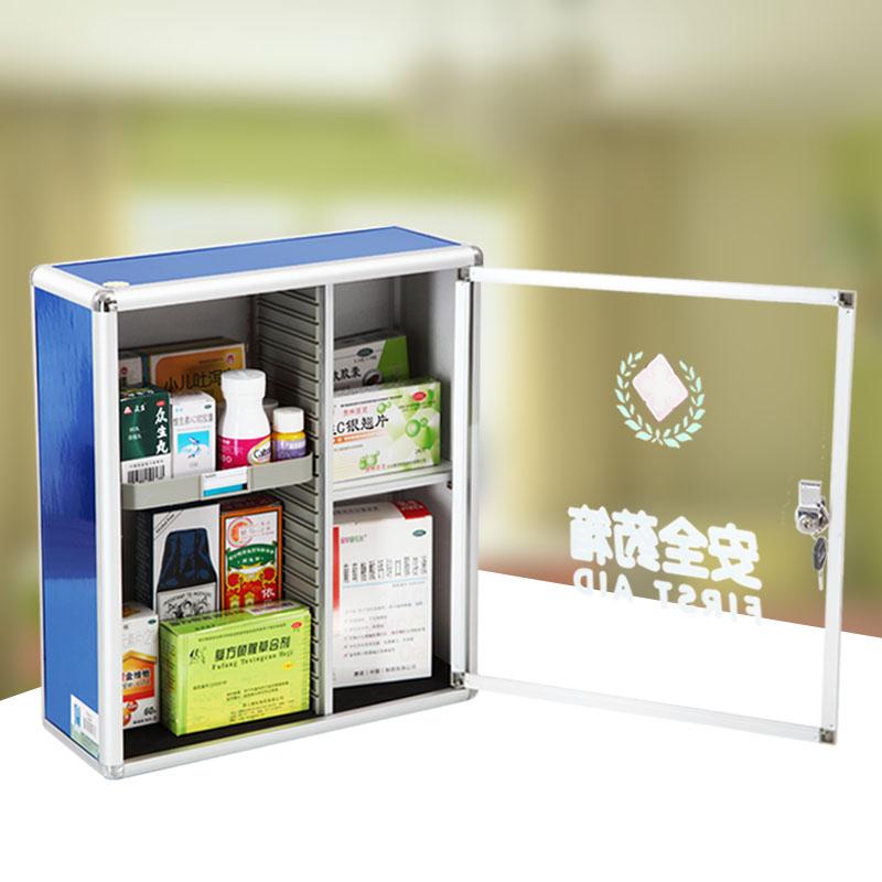 USD 25.29] Safe medicine cabinet for household aluminium alloy ...