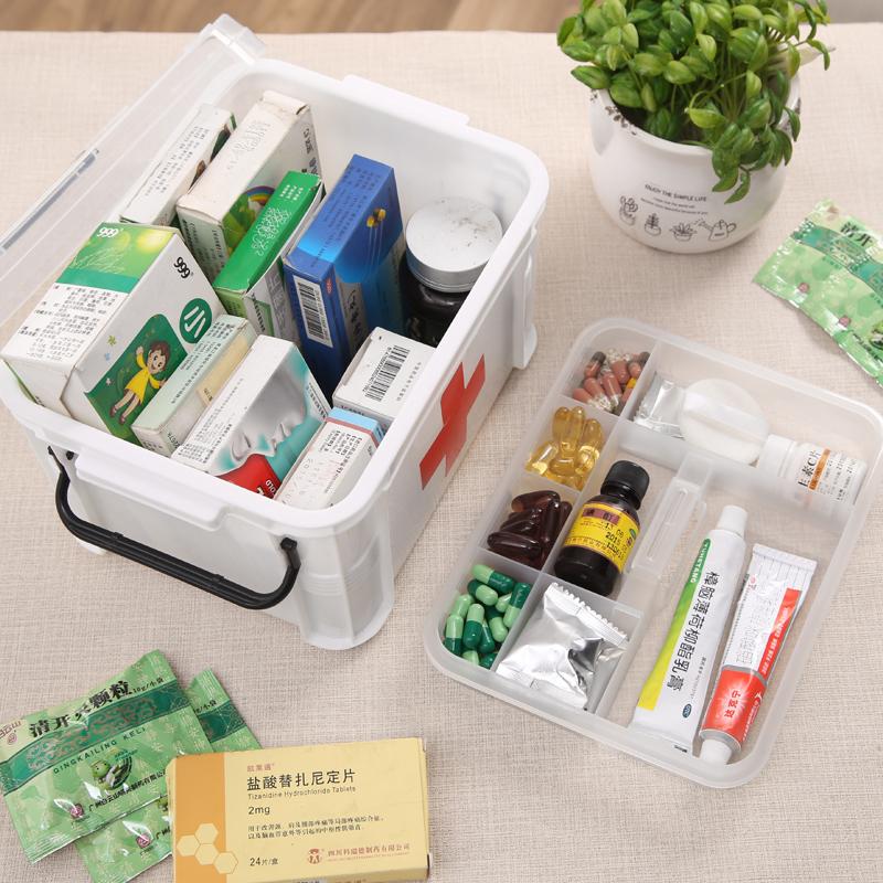 Аптечка Аптечки семейная аптечка многослойный бак большой пластиковый бытовая медицинская аптечка ящик для хранения посещает коробка