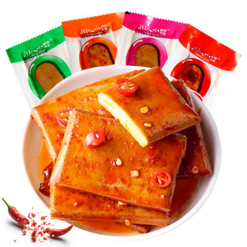 拍4件-网红零食手磨豆腐干720g48包