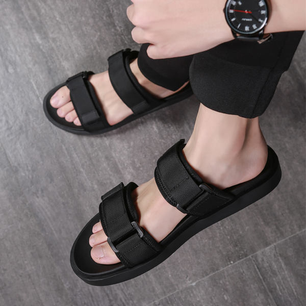 aa7152801 Slippers men s 2019 new summer outdoor beach sandals trend casual fashion  wear net red sandals and ...