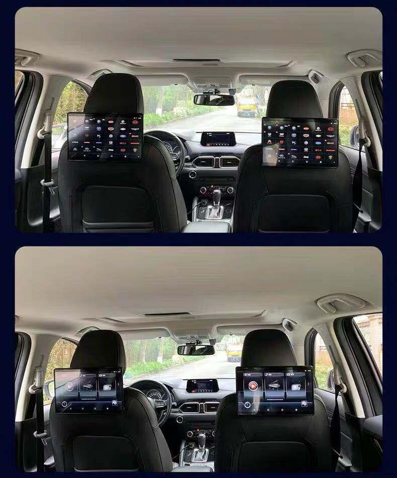 路虎奥迪保时捷宾利专用后排娱乐系统车载电视头枕显示屏原厂改装详细照片