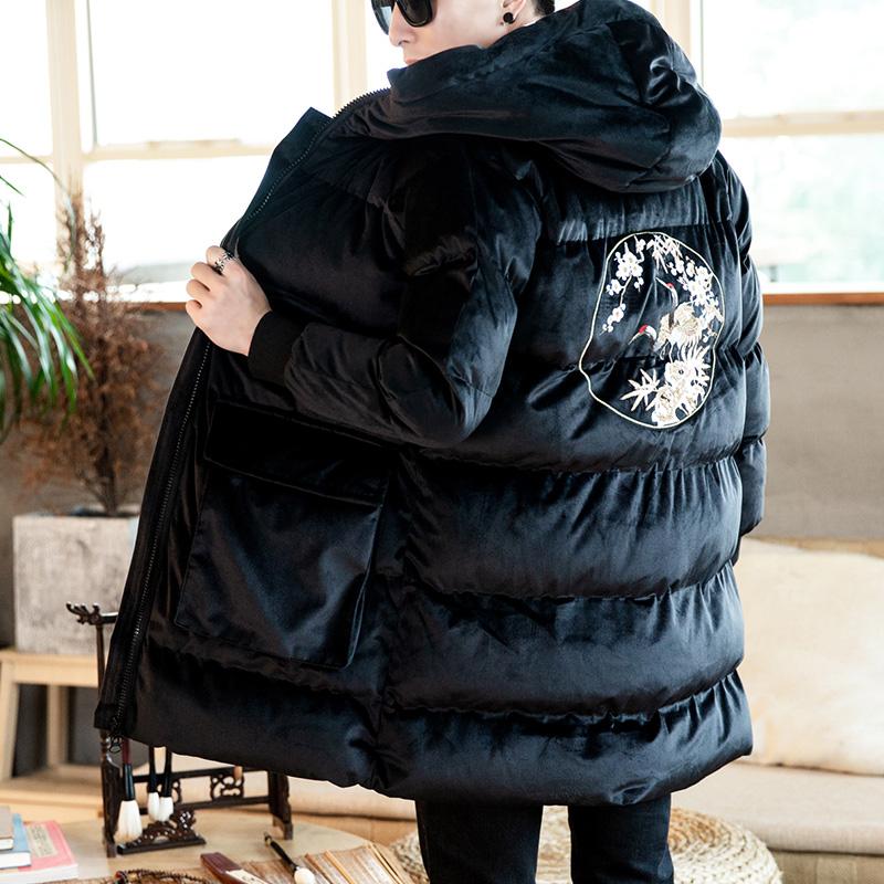 Черный -【вышивка】