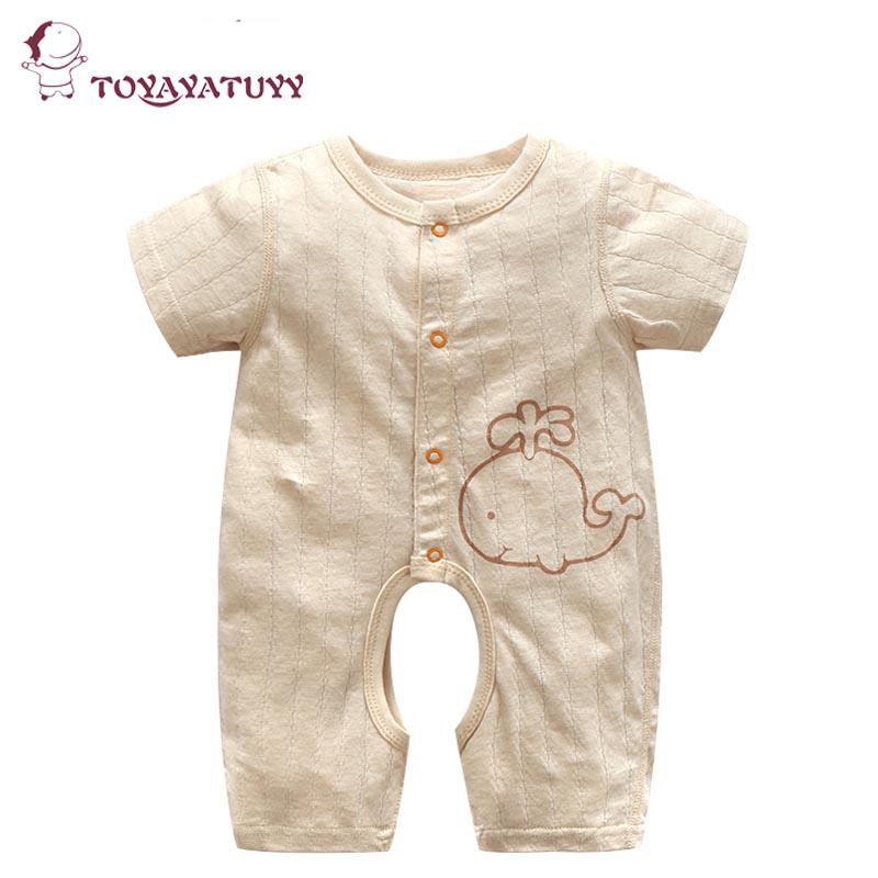 婴儿连体衣夏薄款短袖男女宝宝纯棉开档哈衣新生儿网眼透气爬服