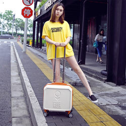 Small suitcase universal wheel light suitcase female 16-inch trolley case student boarding case 17 mini password box 18