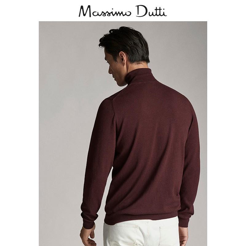 西班牙代购MD棉质男装高领/山羊绒/桑蚕丝素色针织衫00934307555