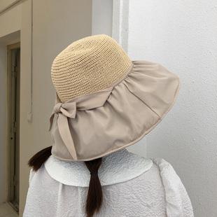 遮阳黑胶防紫外线网红帽子